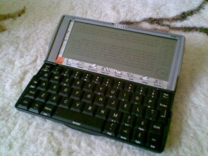e-book on Psion's screen